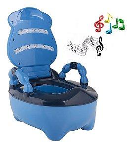 Troninho Musical Azul Anatômico Fazendinha Prime Baby