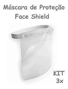 Kit 3 Máscaras De Proteção Facial Face Shield Protec 19