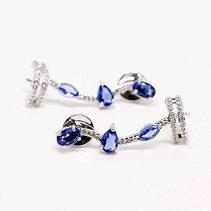 Brinco Earcuff Azul Bettina