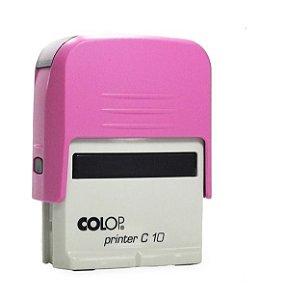 Carimbo Automático Printer C10 - Rosa