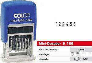 Carimbo Numerador Mini-Folio s126