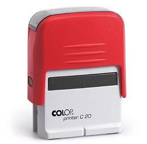 Carimbo Automático Printer C20 - Vermelho