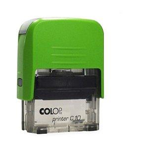 Carimbo Automático Printer C10 - Verde Kiwi
