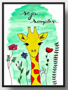 Quadro decorativo Seja simples Girafildes
