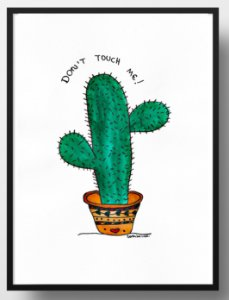 Quadro decorativo Cacto Don't touch me!