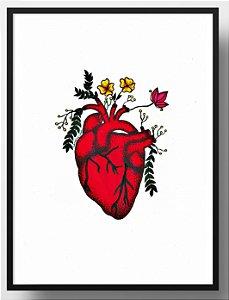 Quadro decorativo Coração florescendo