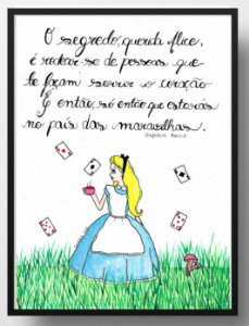 Quadro decorativo Querida Alice