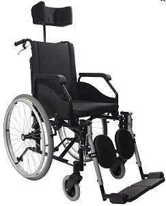 Cadeira de Rodas Reclinável - Fit Preta - Alumínio Aeronáutico