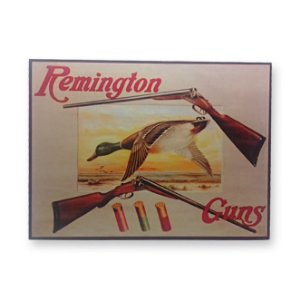 Placa Decorativa em MDF - Remington - 18x23 cm