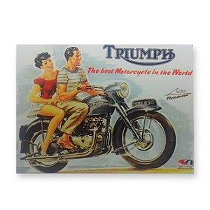 Placa Decorativa em MDF - Triumph - 18x23 cm
