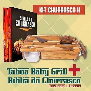 Kit Churrasco I  - Baby Grill + KIT box 4 livros