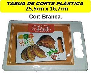 Conj. 6 Tábuas Plástica (25,5x16,7cm) Churrasco Corte Carne