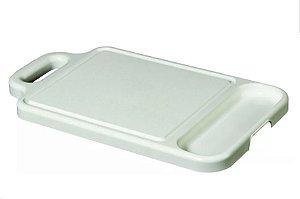 Tabua De Plastico Para Carne Com 1 Divisória Super Resistente