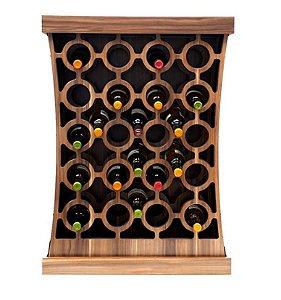 Adega bar 30 garrafas em madeira