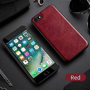 Capa Para iPhone 8 Plus de Couro Vermelho Ref.106