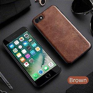 Capa Para iPhone 8 Plus de Couro Marrom Ref.107