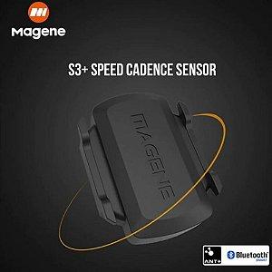 Sensor de Cadência e Velocidade S3+ Magene Bluetooth e ANT+ Ref.112
