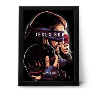 QUADRO OU PLACA DECORATIVA JESUS BOX