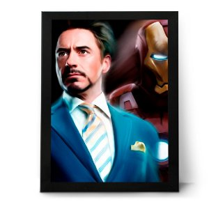 QUADRO OU PLACA DECORATIVA TONY STARK
