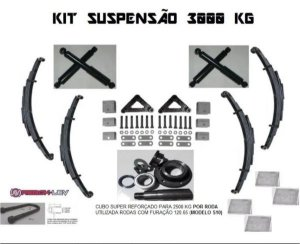 Kit Suspensão P/ Carretinha Reboque 3000 Kg Truck Modelo S10