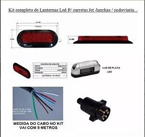 Kit Lanternas Leds P/ Carretinhas Reboque A Prova D´água