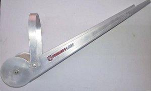 Lançador Âncora Aluminio, Reforçado,c/ Roldana P/ Proa, 50cm