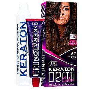 Coloração Semipermanente Keraton Demi Color 6.7 - Louro Escuro Marrom