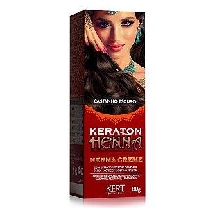 Tonalizante Keraton Henna Creme - Castanho Escuro