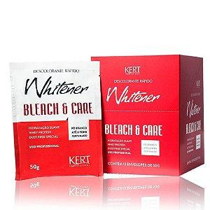 Descolorante WHITENER Bleach And Care-Dust Free-Po Branco-50g