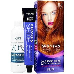 Coloração Keraton Selfie  8.4 - Louro claro Cobre