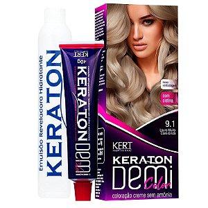 Coloração Semipermanente Keraton Demi Color 9.1 - Louro Muito Claro Cinza