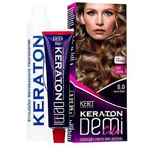 Coloração Semipermanente Keraton Demi Color 8.0 - Louro Claro