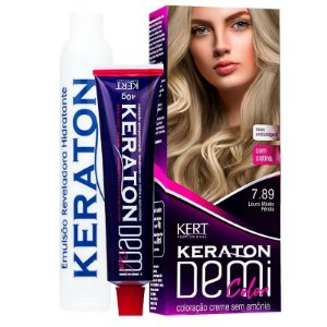 Coloração Semipermanente Keraton Demi Color 7.89 - Louro Médio Pérola