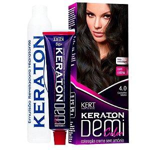 Coloração Semipermanente Keraton Demi Color 4.0 - Castanho Médio