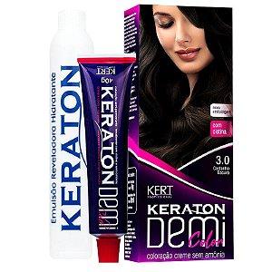 Coloração Semipermanente Keraton Demi Color 3.0 - Castanho Escuro