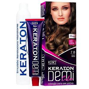 Coloração Semipermanente Keraton Demi Color 7.0 - Louro Médio