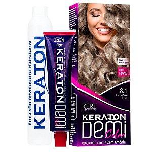 Coloração Semipermanente Keraton Demi Color 8.1 - Louro Claro Cinza