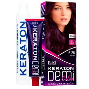 Coloração Semipermanente Keraton Demi Color 6.26 - Marsala