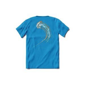 Camisa de Malha Senhor Polvo - Camisa Água Viva - Azul