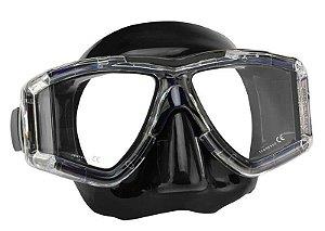 Máscara Panorâmica Silicone Preto Seasub