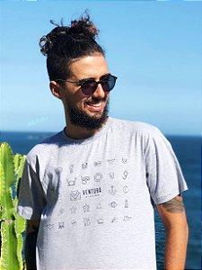 Camisa de Malha Mosaico do Mar - Cinza