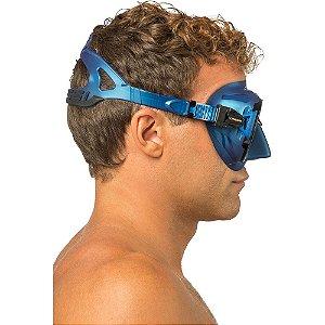 Mascara de Mergulho Cressi Zeus - Silicone Azul