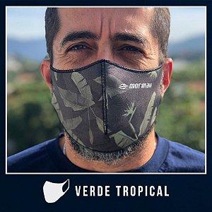Máscara de Proteção Facial  em Neoprene - Verde Tropical