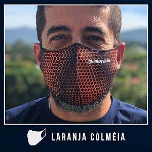 Máscara de Proteção Facial  em Neoprene - Laranja Colmeia