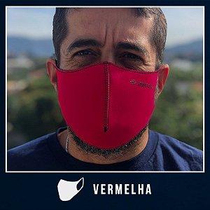 Máscara de Proteção Facial  em Neoprene - Vermelho