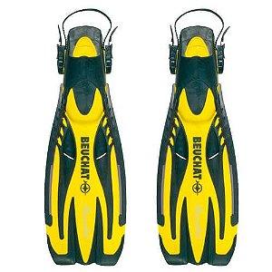 Nadadeira de Mergulho Beuchat PowerJet - ( Preto/Amarelo )