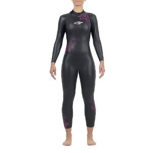 Long J Mormaii manga longa Backzip 3,2 mm Tri Fem Preto/Roxo