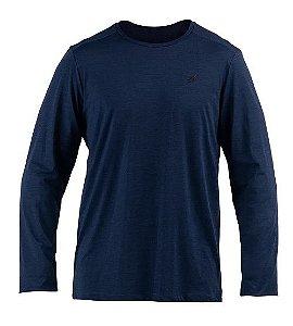 Camiseta Manga Longa Dry Comfort Mas Mormaii Marinho