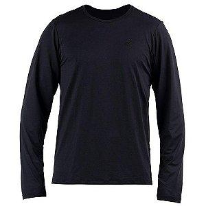 Camiseta Manga Longa Dry Action Masc Mormaii Preto