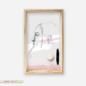 QUADRO BOX COLAGEM – PERFIL ROSA – SOMETIMES FRAGILE, SOMETIMES STRONG